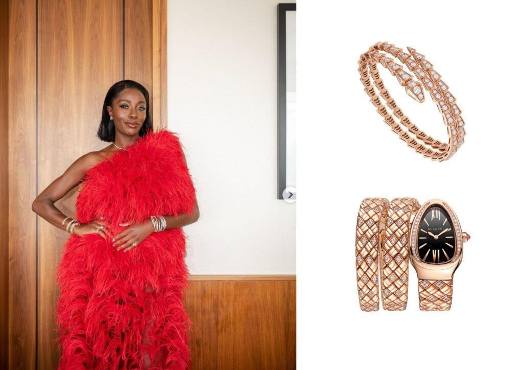 AJ Odudu x Bulgari_Best jewellery at the Baftas 2021