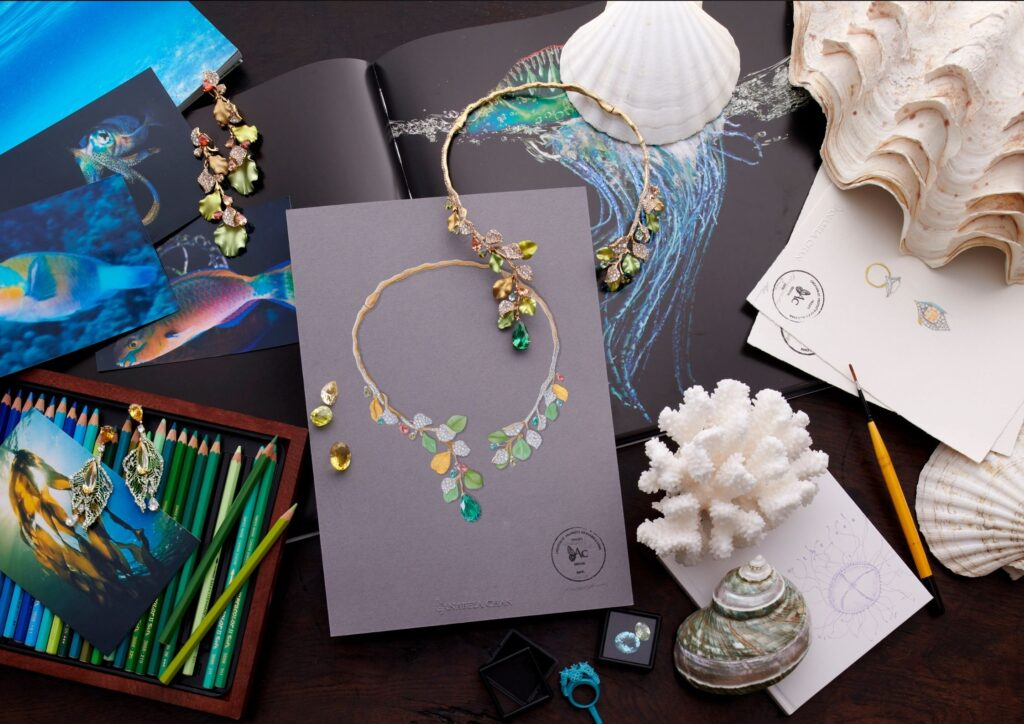 Anabela Chan Mermaid's Tale jewellery collection with recycled cans