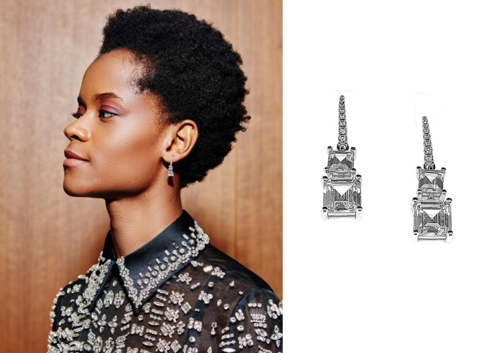 Letitia Wright x One Carat _Best jewellery at the Baftas 2021