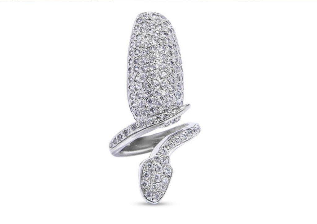 Diamond nail ring by Bijules