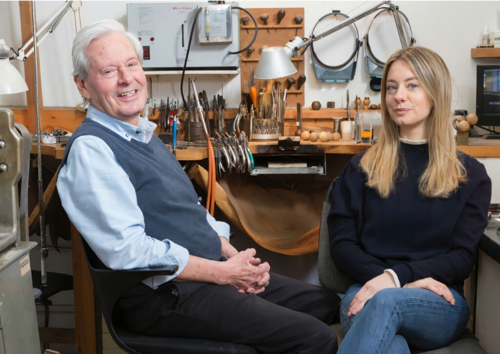 Father and daughter jewellery designers David Thomas and Jessie Thomas