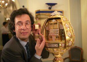 Paul Kutchinsky with The Argyle Library Egg